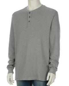 Wolverine-Mens-XL-NWT-Heather-Gray-Walden-Thermal-Waffle-Knit-Henley-Shirt