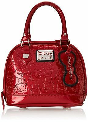 2de454d6496a NWT Loungefly Hello Kitty Pearlized Red Embossed Mini Dome Bag