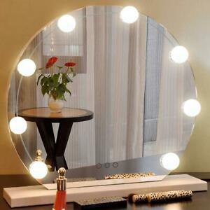 Details About 10pcs Led Makeup Mirror Light Bulb Kit Hollywood Vanity Dressing Table Lamp