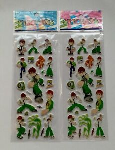 2pcs-lot-BEN-10-Puffy-Stickers-Sheets-Party