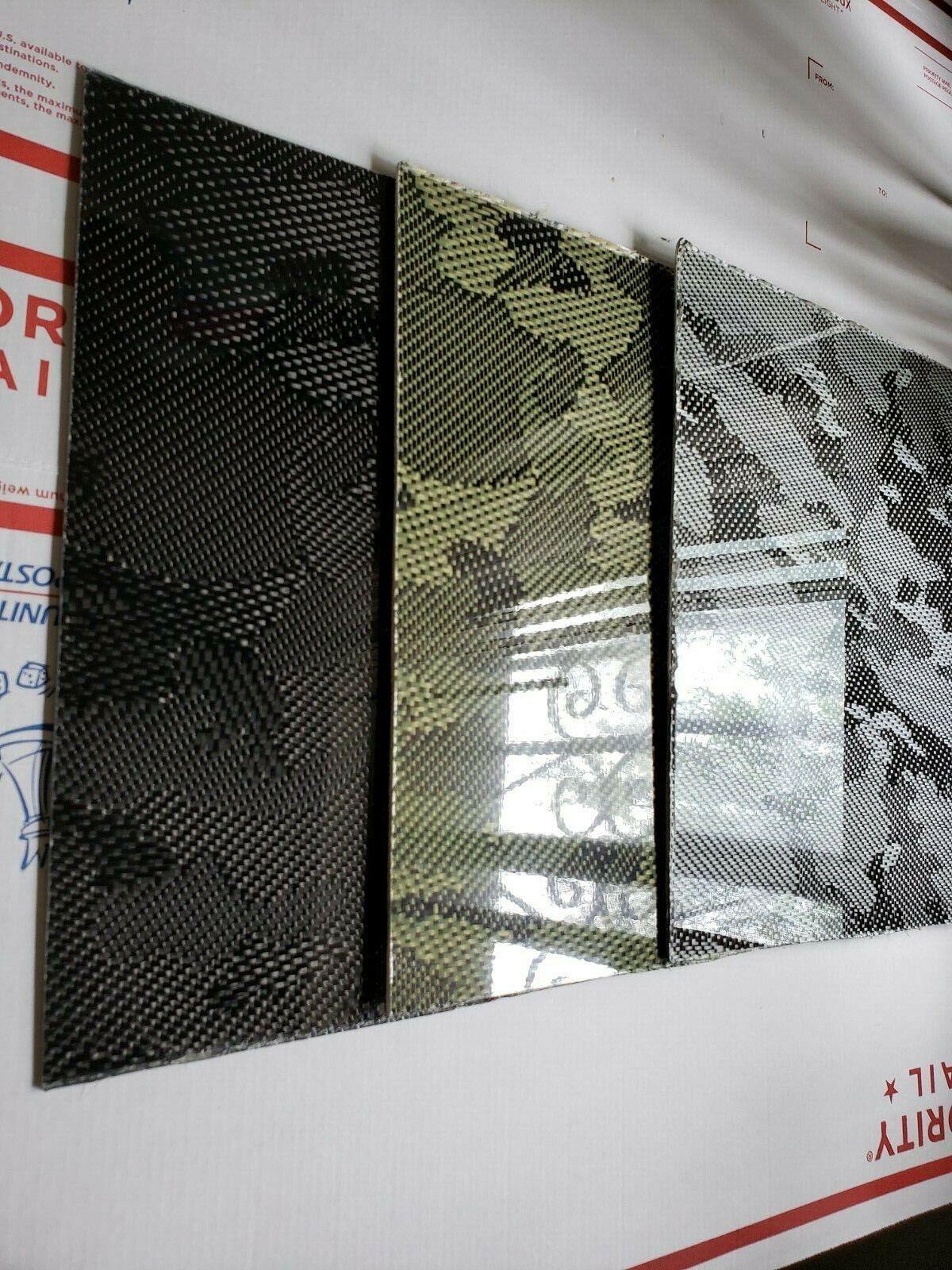Camuflaje Hoja De Panel De Fibra De Vidrio Fibra De Carbono 18 x24 x1 4  brillante de un lado