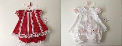Bulk of 12 pieces Baby clothes//dress Newborn handmade