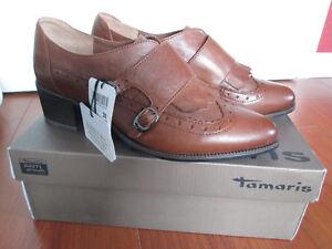 NEU Halbschuhe Chelsea Boots Budapester TAMARIS Gr. 39 Leder