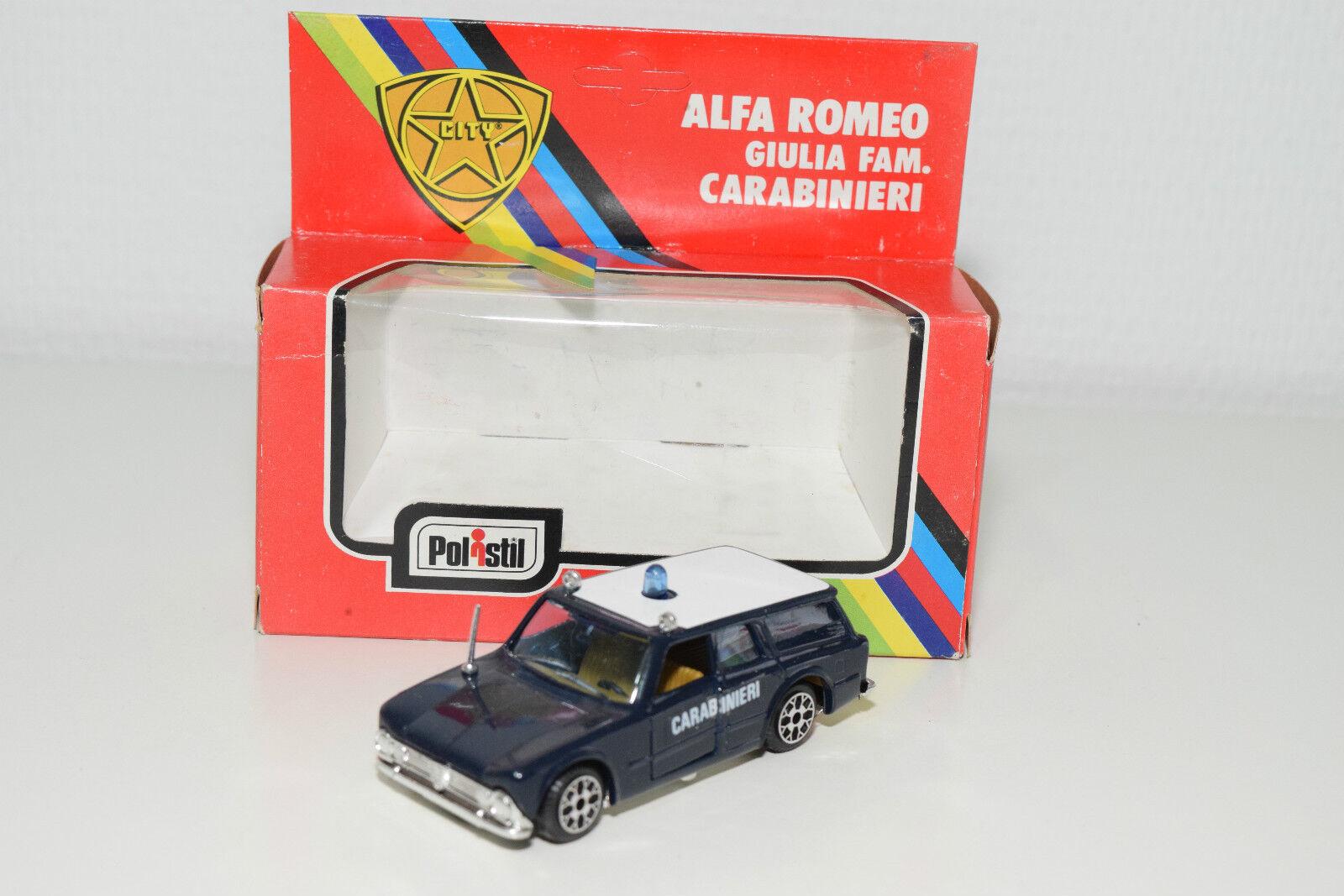 POLISTIL CE15 CE 15 CE-15 ALFA ROMEO  GIULIA FAM. voitureABINIERI MINT BOXED RARE  magasiner en ligne aujourd'hui