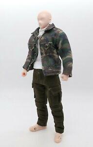No Figure M Size Camo Dark Green Army Coat for Mezco Punisher Marvel Legends