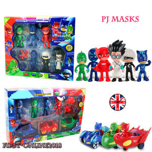 PJ-Masks-Action-Figures-6PCS-amp-3Cars-Catboy-Owlette-Gekko-WITH-BOX-Toys-Kids-Gift