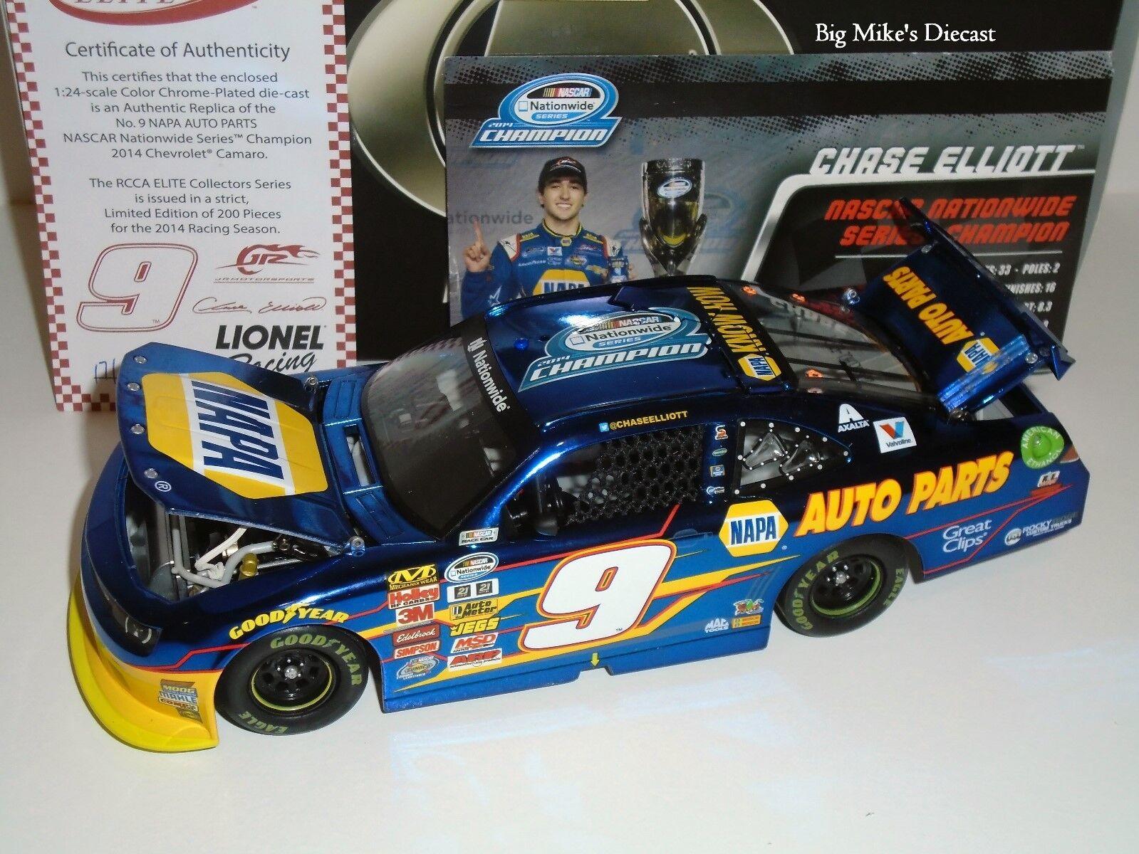 2014 Chase Elliott Xfinity Champ 1 24 ELITE color Chrome Diecast 2015 release