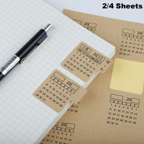 Universal  Handwritten Index Label Notebook  Kraft Paper Sticker Calendar