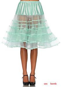 SEXY Petticoat Sottogonna green MENTA Lunghezza Media taglia unica Fashion GLAM