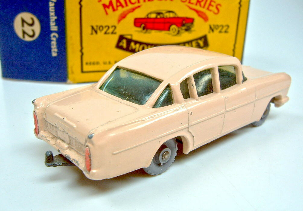 Matchbox No.22B Vauxhall Vauxhall Vauxhall Cresta pink body with windows boxed a96b9c