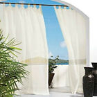 1 OUTDOOR Gazebo Patio Sheer tab top window panel Garden Curtain Drapes