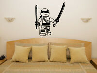 Lego Teenage Mutant Ninja Turtle Leonardo Children's Bedroom Decal Wall Sticker