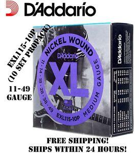 10-Set-D-039-ADDARIO-EXL115-le-corde-per-chitarra-elettrica-Nichel-EXL115-10P-il-Pacchetto