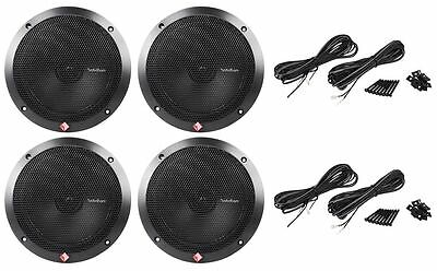 "(2) Pairs Rockford Fosgate R1675X2 6.75"" 6-3/4"" 2-Way Car Stereo Speakers"