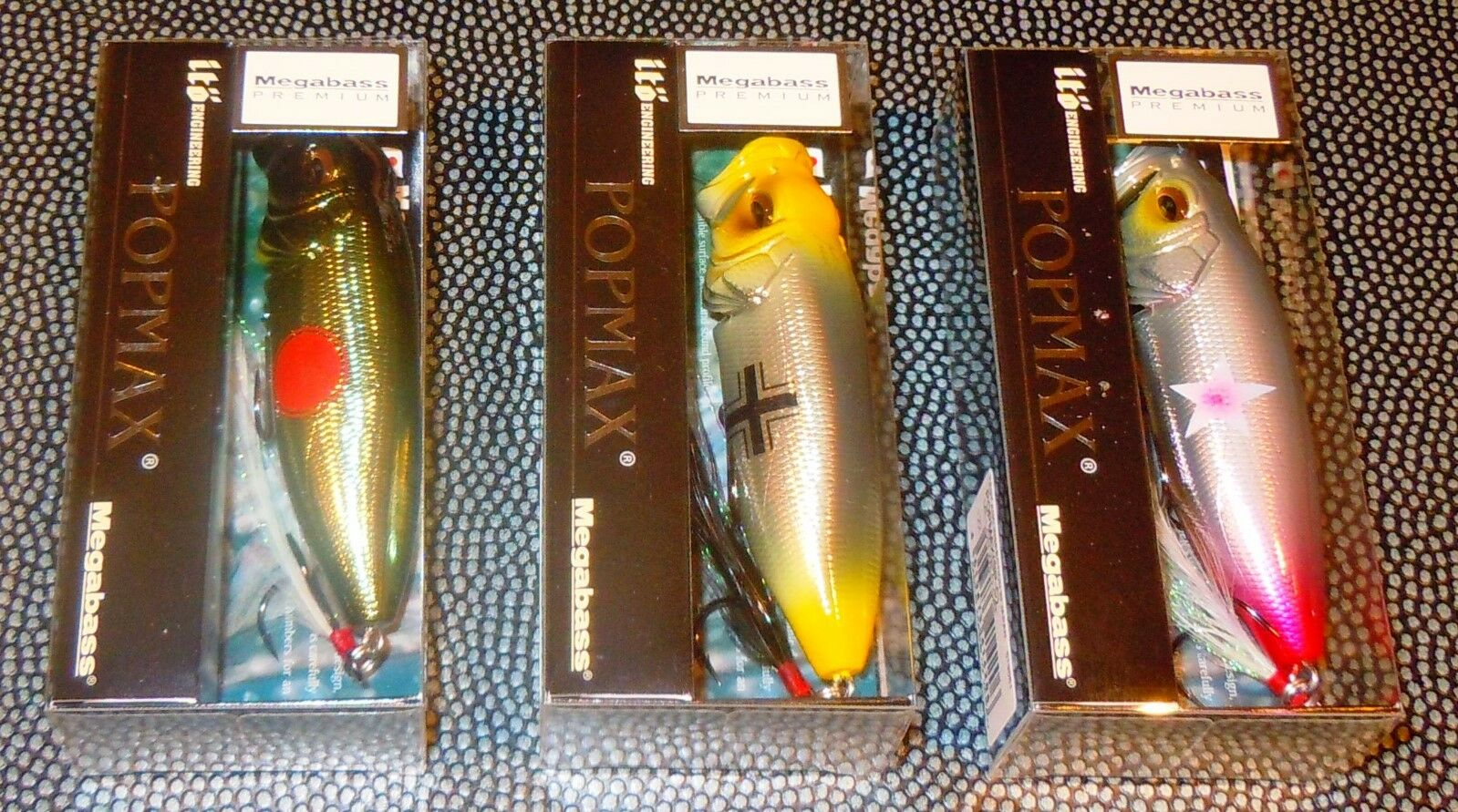 Megabass Premium Fighter color POP-MAX MILLOR SET    Wildcat   Bf109   Shiden