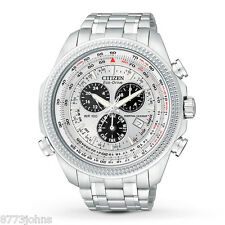 Citizen Men's Eco-Drive Stainless Steel Chronograph Sport Watch BL5400-52A