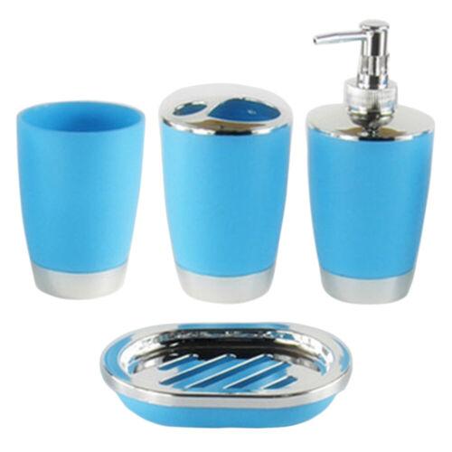 4Pcs//set Plastic Bathroom Suit Bath Accessories Cup Toothbrush Holder Soap Dish