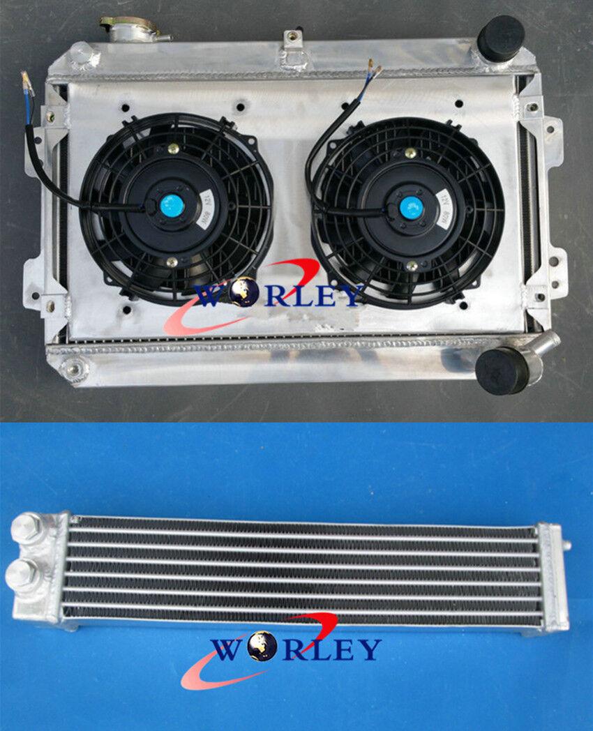 Aluminum Radiator Oil cooler for Mazda RX7 Series 1 2 3 S1 S2 S3 SA//FB 79-85