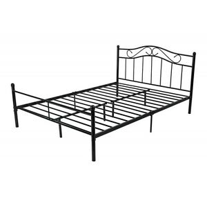 metallbett ehebett doppelbett 180x200 ehebett schwarz mit. Black Bedroom Furniture Sets. Home Design Ideas