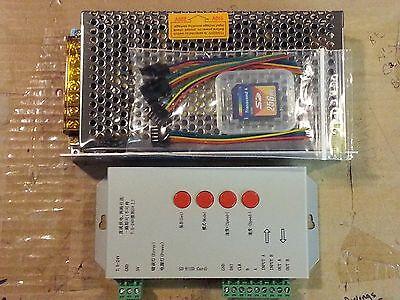 T1000S LED Controller + 5V-40A Supply RGB WS2811 WS2812 LPD8806 DMX *USA SHIP*