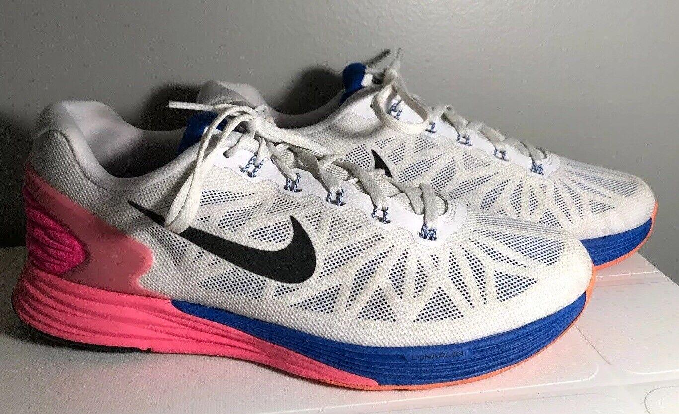 nike da donna lunarglide 6 6 6 atletico scarpe taglia 10 654434 bianco rosa blu | Prima qualità  | Scolaro/Ragazze Scarpa  | Gentiluomo/Signora Scarpa  | Scolaro/Ragazze Scarpa  1af711