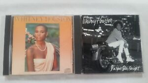 WHITNEY-HOUSTON-2-CD-LOT-I-039-M-YOUR-BABY-TONIGHT-SELF-TITLED-EX