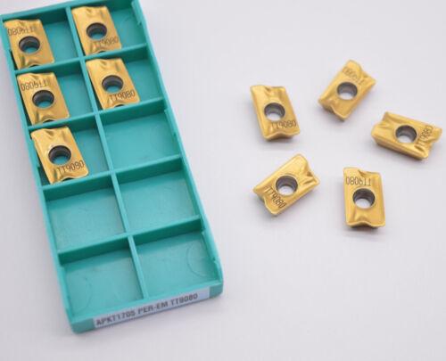 10pcs APKT1705 PER-EM TT9080 alloy carbide inserts APKT milling cutter FOR STEEL