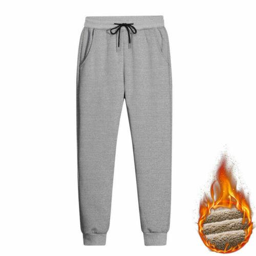 Hommes Pantalon Survêtement Polaire Doublé Épais Grande Taille Jogging Sarouel