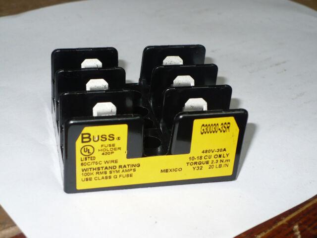 BUSS G30030-3sr Fuseholder 480 Volt 30 Amp 3 Pole for sale online | eBayeBay