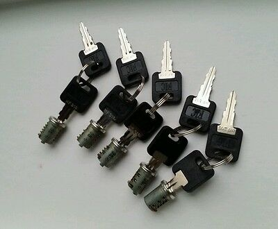 NEW SET OF 5 FIC REPLACEMENT CYLINDERS WITH 10 KEYS RV, MOTORHOME, TRAILER LOCK