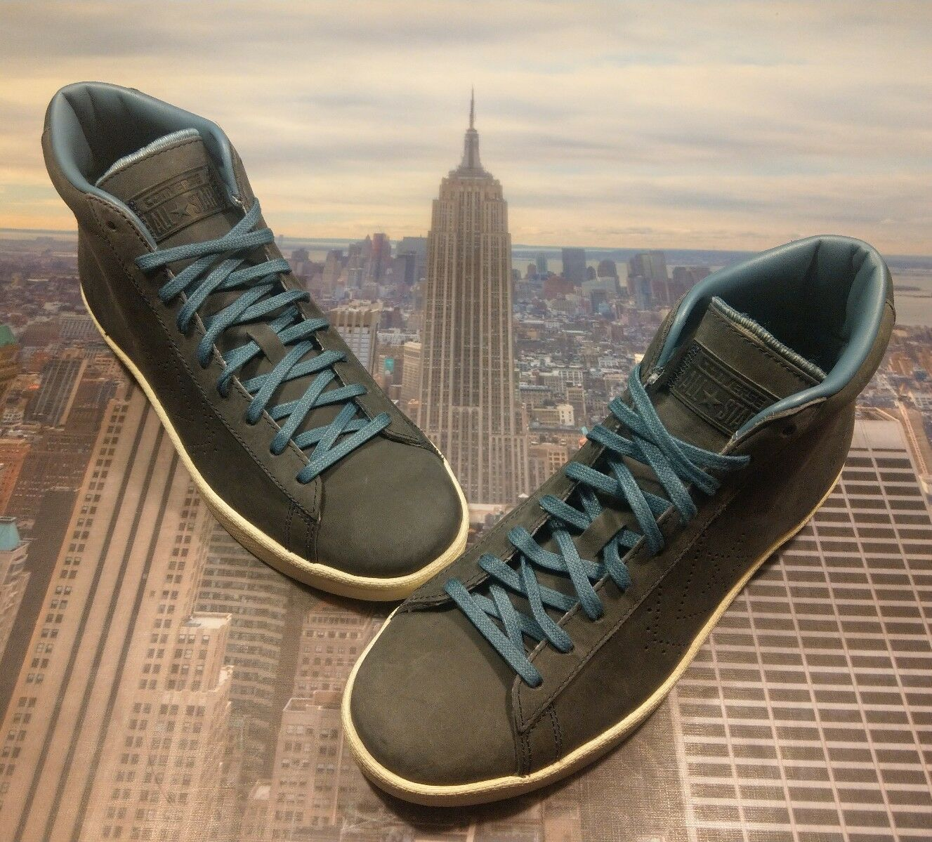 1b1b0a674d30 Buy Converse PL 76 Pro Leather 76 Mid Top Blue Coast blue Size 9.5 ...