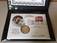 Washington Mint Elvis Presley FIRST DAY COVER AND PROOF Stamp & Silver Coin COA