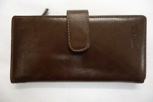 Ladies-Leather-Purse-Wallet-Organiser-Large-TAN-Top-Brand-Space-for-16-Cards