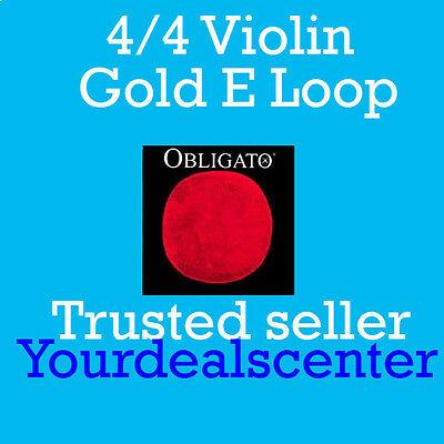 NEW Pirastro Obligato Violin Strings Set 4//4 Steel LOOP E