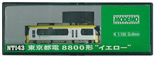 Modemo NT143 Tokyo Metropolitan Tram Typ 8800 Gul (N skala) MWM