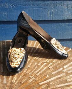 hoofden lak op 8 met Cheetah N loafers zwarte print Jeweled Ponyskin slip WdroxCBe