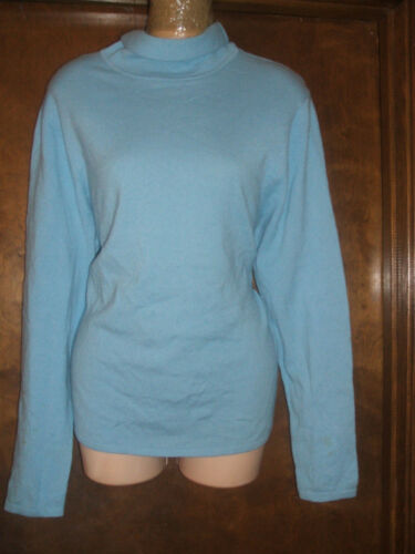 ~ Sweater 4 ~ 295 Turtleneck 'Light 100 Af sz Baker Blue nwtgs Ladies Ted Cashmere PWS7cBPq