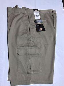 Dickies-Men-039-s-13-034-Loose-Fit-Khaki-Cargo-Shorts-43214RKH-Brand-New