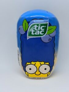 1 NEW TIC TAC MINTS THE SIMPSONS BART BUBBLE GUM LIMITED EDITION JUMBO PACK
