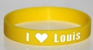 "ONE Direction 1D ""io & LT3 LOVE LOUIS"" GIALLO BRACCIALE BRACCIALETTO * lo stesso giorno POST 							 							</span>"