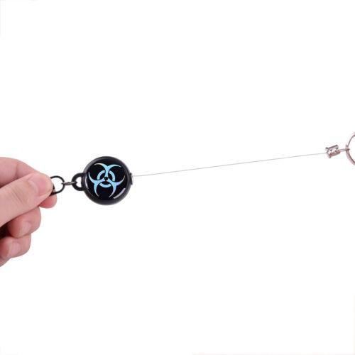 Einziehbarer Karabiner Stahldraht Seil Survival Keychain Recoi Schlüsselanhänger