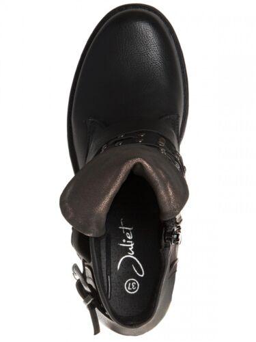 Damen Vintage Biker Ankle Boots Stiefeletten Schwarz Grau Khaki 37,38,39,40,41