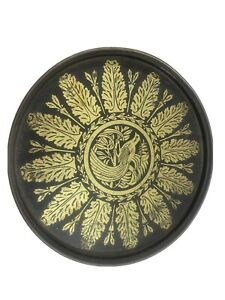 Vintage - Peacock Tin black and gold