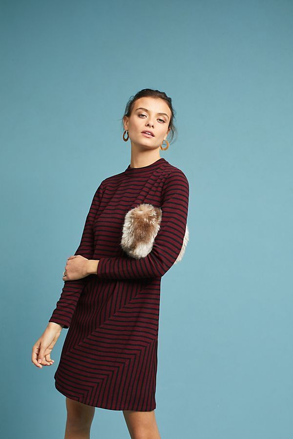 Anthropologie Structurot Knitwork Dress NWT new L