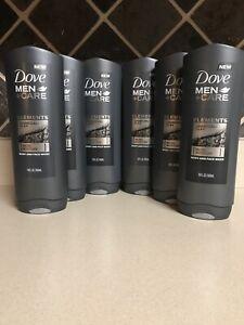 Lot 6 Dove Men Care Elements Body Wash Charcoal Clay 18 Oz Ebay