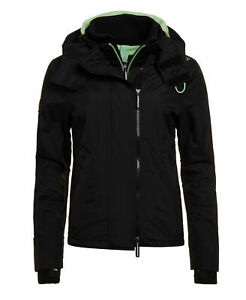 Superdry artico windcheater cappuccio con Womens New Pop Sd nero Zip RwnSxw7q5F