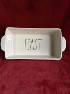 Rae-Dunn-034-FEAST-034-Baking-Dish-Loaf-Pan-Farmhouse-Kitchen-Thanksgiving-10-5-x5-NEW