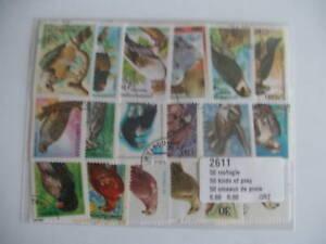 SûR * Timbres Oiseaux De Proie : 50 Timbres Tous Differents / Stamps Birds Of Prey *