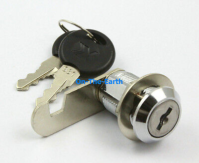 2 Cabinet Showcase Desk Drawer Tool Box Cylinder Cam Lock with Keys 18x20mm