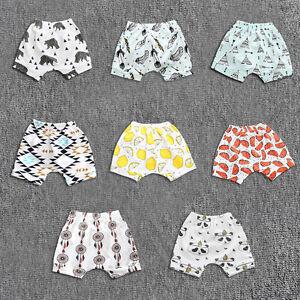 6fe09cda4d30 Kids Baby Boy Girl Harem Pants Print Shorts Summer Toddler Short ...